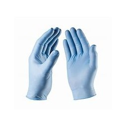 BLUE NITRILE GLOVES NON POWDERED MEDIUM BOX OF 100