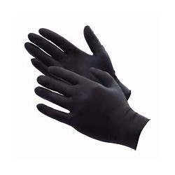 COLAD GLOVES BLACK NITRILE MEDIUM / 60 PCES