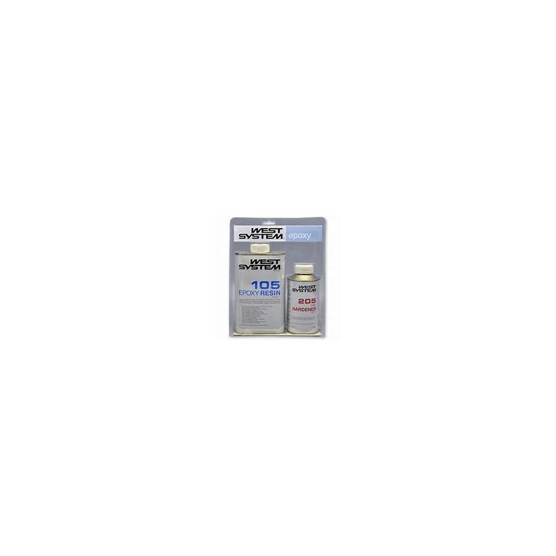 WEST SYSTEM EPOXY KIT RESIN (105 + 205) 1KG + DURCISSEUR 0.2KG