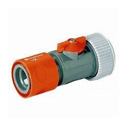 GARDENA HOSE CONNECTOR WITH CONTROL VALVE 19MM -  2943-26