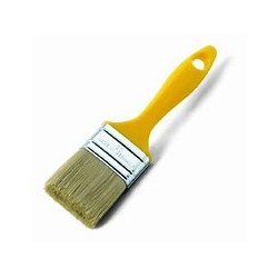 PLASTIC YELLOW DISPOSABLE BRUSH 70MM