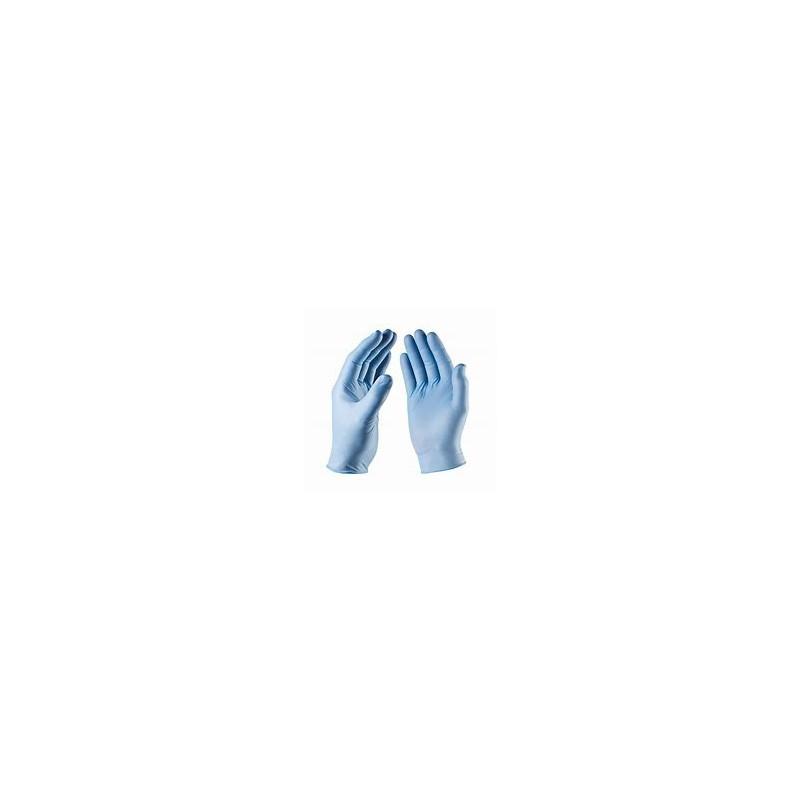 BLUE NITRILE GLOVES NON POWDERED MEDIUM BOX OF 100