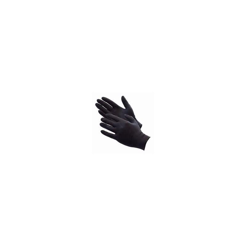 COLAD BLACK NITRILE GLOVES MED / 60 PCES