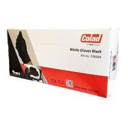 COLAD BLACK NITRILE GLOVES LARGE  / 60 PCES
